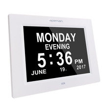 "apeman 8"" Digital Clock Photo Pictures Frame Automatically Electronic Calendar Alarm Reminder MP4 MP3 720P Video Moive Player"