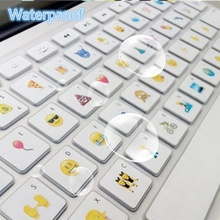 Silicone Keyboard Cover Protector For Apple For Macbook Air Retina13 15 Waterproof Cute Emoji For Macbook Air 13 Keyboard Cover