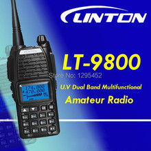Black Color Linton LT-9800 dual band waterproof walkie talkie LT9800 with keypad 200 channels handheld tranceiver free shipping(China)