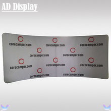 18ft*8ft Custom Size Curved Tension Fabric Exhibition Banner Stand With One Side Printing,Tradeshow Booth Media Backdrop Wall