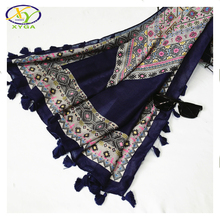 1PC 130*130cm 2016 Fall & Winter New Design Twill Cotton Women Large Square Scarf Woman New Cotton Square Pashminas Shawls