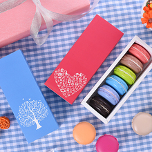 10pcs a lot wholesale price Four patterns Dessert Macaron packaging box  mooncake box baking cookies food package box