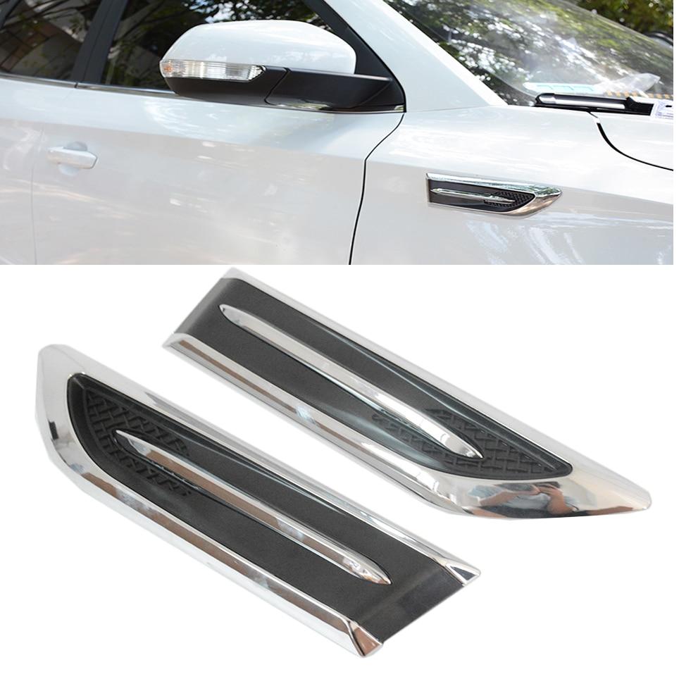 Auto Chrome SUV Car Side Mesh Vent Air Flow Fender Decoration Stickers all car