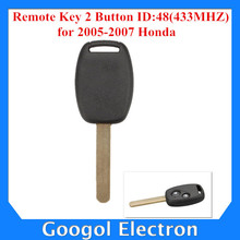 2005-2007 For Honda Remote Key 2 Button and Chip Separate ID:48(433MHZ) Fit ACCORD FIT CIVIC ODYSSEY Free Shipping