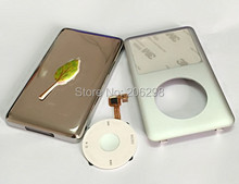 Key  iPod 6th Gen Classic Thick 160GB Silver Front Faceplate Fascia Back Rear Housing Case Cover White Clickwheel Button