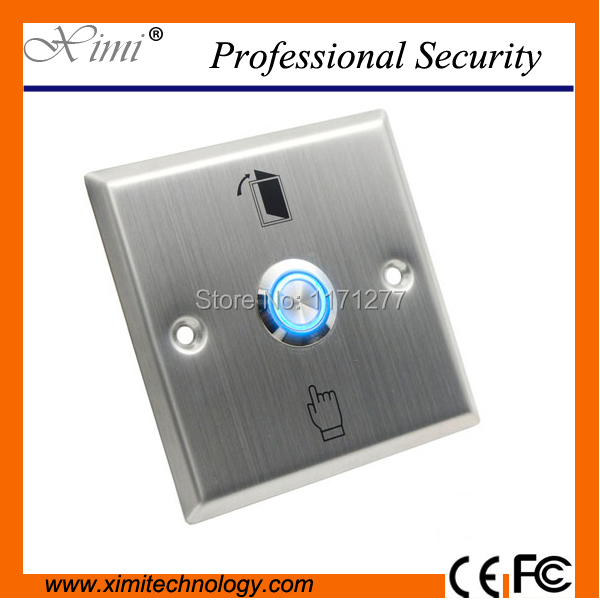 Free led light stainless steel press exit switch access controller exit metal exit button<br>