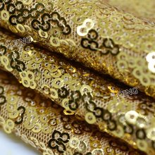 1 Yard Glitzy Gold Embroidered Sequin Fabric Material Mesh Lace Sequin Fabric For Clothes Wedding Dress Table Cloth Decoration