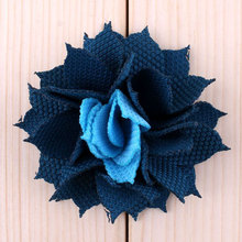 2inches Starburst DIY Chiffon Flowers Vintage Cloth Flowers for Sewing Headband Embellishments Party Wedding Decorations