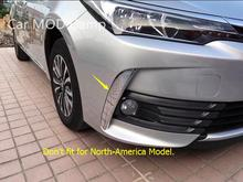 For Toyota Corolla 2017 Sedan (Not fit for North-America Model) ABS Chrome Front Fog Light Eyelid Cover Trim 2pcs(China)