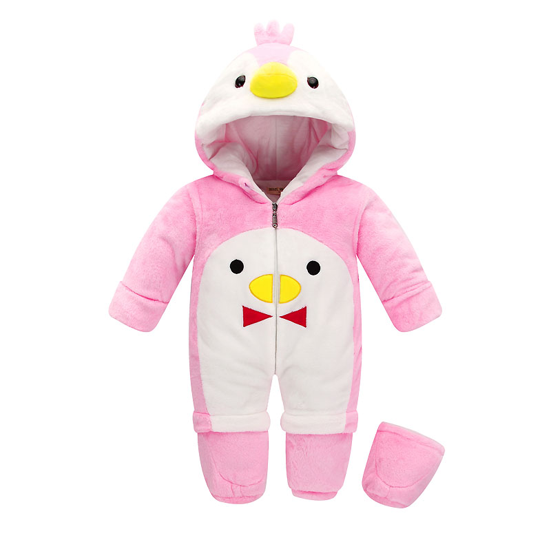 New Baby Winter Rompers Cotton Padded Thick Newborn Baby Girls Warm Jumpsuits Autumn Fashion babys wear Kids Climb Clothes<br>