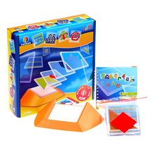 Colorful plastic toy gift space game spatial thinking IQ logic puzzle 100 questions(China)
