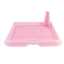 Flip-open cover Pet Dog Mesh Pet Toilet Tray Cat Pad Indoor Pet Potty Toilet Puppy Pee Training Clean Pot With pillar