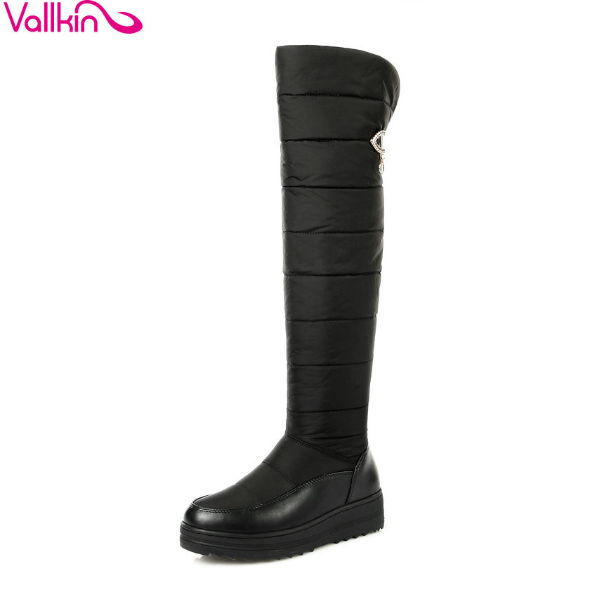 VALLKIN 2018 Winter Casual Long Boots Fashion Platform Snow Shoes Platform Over The Knee Boots Med Heel Ladies Boots Size 34-43<br>