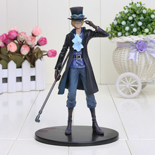 "Anime One Piece DXF Sabo PVC Action Figure Collectible Model Toy 7"" 18cm(China)"