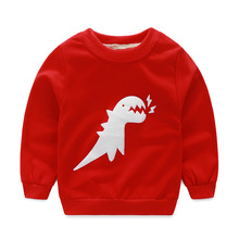 Autumn Cotton Sweatshirts For Baby Boys Children Clothes Cute Long Sleeve Animal Dinosaur Kid Pullover Sweatshirt/moleton menino(China)
