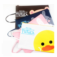 A21 Cute Kawaii Totoro Tutula A4 Zipper Document Bag Business Briefcase Storage File Folder for Papers Stationery Student Gift(China)
