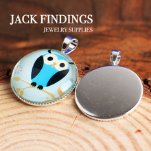 20mm 10pcs High Quality Silver  Plated Copper Round   Cabochon Base  Cameo Settings Blank Tray Bezel 2015 New Style