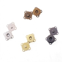 Free shipping 5 Sets Square Metal Buttons Magnetic Purse Snap Clasps/ Closure for Purse Handbag 15x15mm