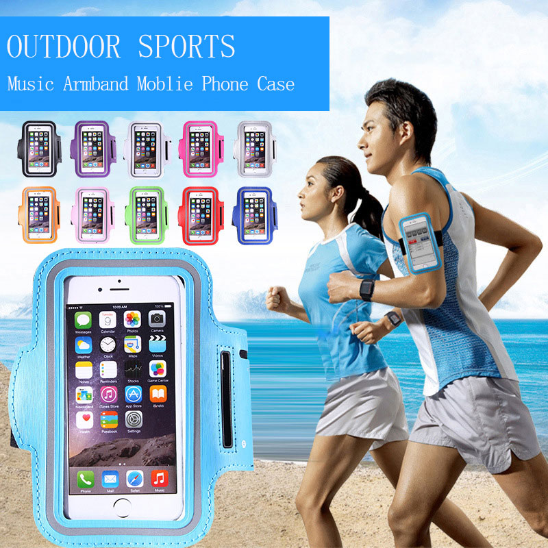 Blucub Waterproof Outdoor Sport Armbands Mobile Phone Case For iPhone 6/6s/7 Samsung Glaxy Xiaomi HuaWei Pouch Case Cover Holder(China (Mainland))