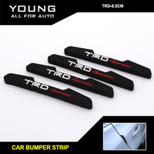 Yumseen 4pcs Black Car Door Rubber Door protection Trim Molding Protection Strip Scratch Protector Clear rubber bumper strip