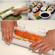 NEW Food Grade Plastic Sushi Maker Roller Kit Sushi Mold Bazooka Sushi Rolls Maker Rice Rolls Making Tool