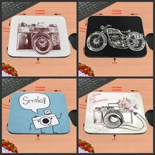 Camera Art Custom Silicon Anti-slip Gaming Mousepad Computer Mouse Pad Mat For Optical Mice Trackball Mouse As A Gift(China)