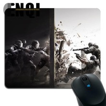 2017 Hot Low Tom Clancy's Rainbow Six Siege Background pattern Notebook Optics Rubber Animation mouse pad