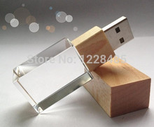Popular  usb flash drive 4GB 8GB 16GB 32GB 64GB memory creative wooden + glass bottle  USB Flash 2.0 Memory Drive Stick S551