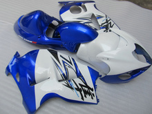 Injection Mold Fairing kit for SUZUKI Hayabusa GSXR1300 96 99 00 07 GSXR 1300 1996 2007 ABS White blue Fairings set+7 gifts VX30