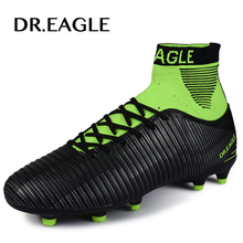 DR.EAGLE football shoes for men high cleats soccer original With Socks Professional Football Boot FOOTBALL WITH ANKLE BOOTS(China)