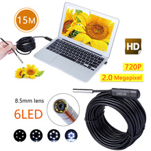 Shekar 2.0 Megapixel 15M HD USB Endoscope Digital Borescope Inspection Camera Waterproof SnakeTube Camera with 6 LED 8.5mm Head
