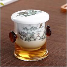 new style high quality Chinese Lapsang Souchong black tea set manual handpainted tea tool with filter inside T88(China)