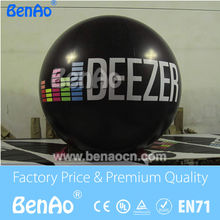 AO061 Free+shipping and printing 0.18mm Thickness PVC Helium balloon Advertising PVC balloon/sky balloon New Black color