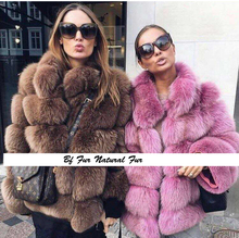 Buy BFFUR Top 100% Real Natural Fox Fur Coat Women Genuine Leather Fur Female Jacket Winter Thick Collar Long Real Fur for $418.95 in AliExpress store