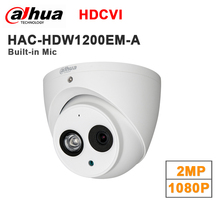 Wholesale english dahua 2MP 1080P HDCVI HAC-HDW1200EM-A replace HAC-HDW1200E-A IR Eyeball Camera Mic built in DH-HAC-HDW1200EM-A(China)