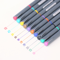10 pcs/Lot Fine line drawing pen for manga cartoon advertising design Water Color pens Stationery Office school supplies 6954