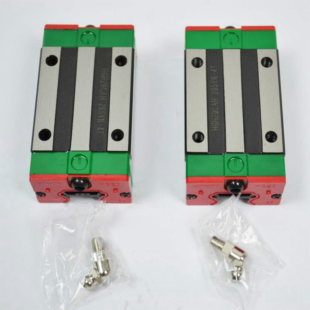 2pcs/lot 100% original Hiwin HGH20CA linear narrow blocks match with HGR20 linear guide(only blocks)<br>