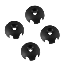 Durable 4 Piece Black ABS Slotted Round Deck Line Guide Outfitting Kayak Canoe Sailing Rigging Water Sports Rowing Boats Access(China)