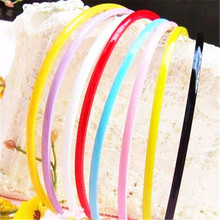 New 10pcs Mix Candy Color Plastic Headbands Thin Hair Hoops Teeth Headwear for Women Girls Hair Accessories
