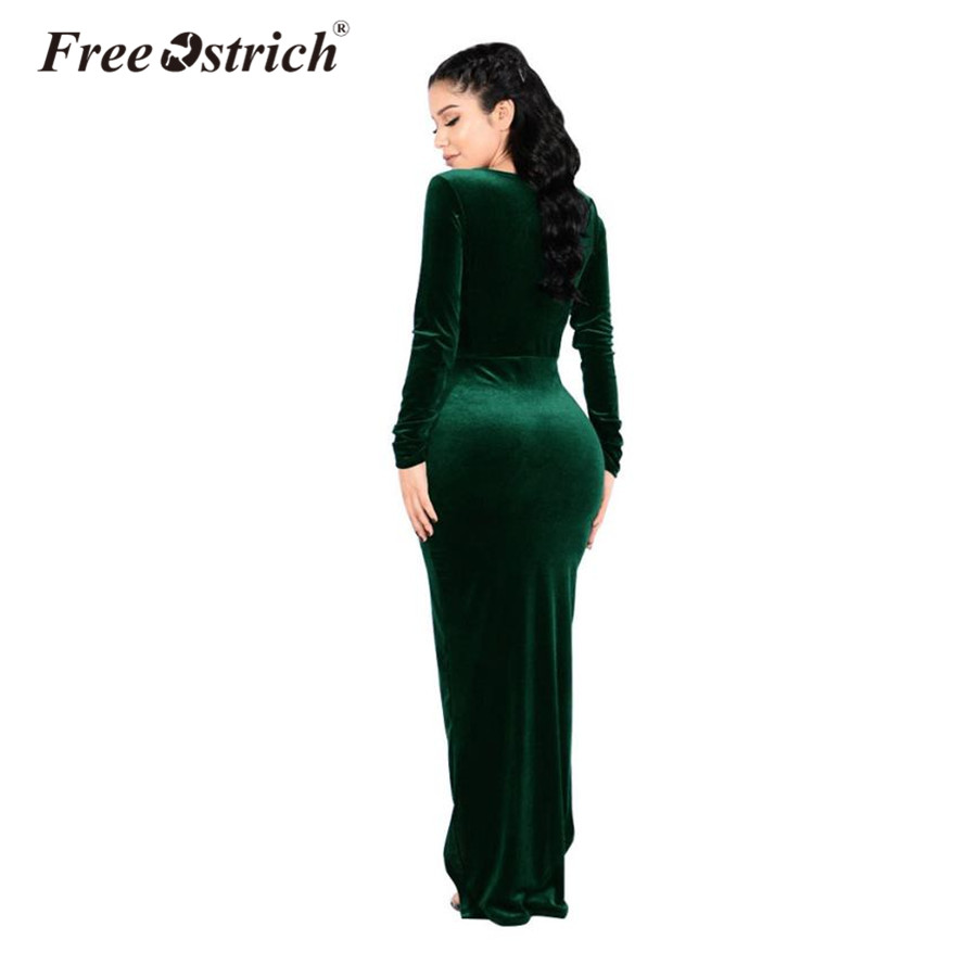Detail Feedback Questions about Free Ostrich dress woman long sleeve ... e39a47f8e681