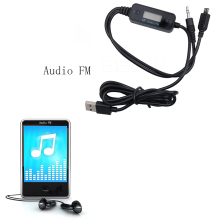 Universal Car Audio Music FM Transmitter FM-185 with Large LCD Screen Car Charge Line Cellphone Accessories