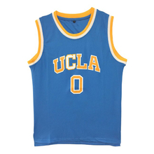 Mens UCLA 0# Russell Westbrook Crenshaw Blue White Home Road Mens Throwback Basketball Jerseys Stitched Embroidery