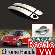 For VW Beetle 1998-2011 Chrome Door Handle Covers Trim Set of 2Pcs Volkswagen New Beetle Car Accessories Car Styling 2006 2008