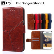 Case for Doogee Shoot 1 Wallet PU Leather Flip Case Cover for Doogee Shoot 1 Cell Phone Cases Cover & Card Holder Stand(China)