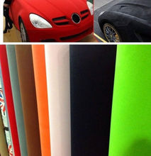 1.35x0.5m Suede Cloth Fabric Vehicle Wrapping Velour Vinyl Wrap Film Sticker for 9 Colors(China)