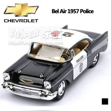 High Simulation Exquisite Baby Toys KiNSMART Car Styling CHEVROLET Bel Air 1957 Polic Car 1:40 Alloy Sports Car Model Best Gift