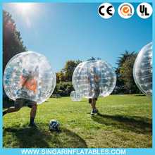 Free shipping 1.0mm PVC 1.8m diameter bumperz,body bouncer,bubble ball for big heavy players