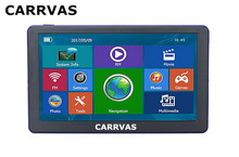CARRVAS 7 inch Capacitive Car GPS Navigation 8GB 256M Bluetooth AV IN FM Europe maps or Russia Navitel map navigators(China)