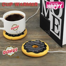 Free Shipping 5Pieces Wonderful Donut ! USB Powered Donut Mug Warmer Giant Donut Warmer Coaster