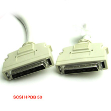 SCSI 50 Pin HPDB50 & CN50 SCSI-2 Twisted Cable Connector Plug Adapter Solder Male
